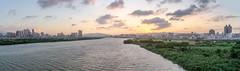 (Bamtography) Tags: nikon nikond7000 nikkor24mm28d taiwan taipei river sunset sun sky