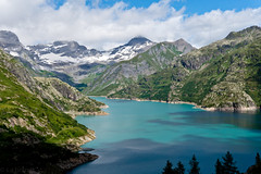 Lac Emosson (sabrandt) Tags: emosson valais wallis dam hydroelectric lake blue mountains alps switzerland europe
