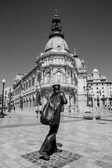 (Ryan Dineen) Tags: black white architecture aesthetics grey building mann statue spain cartagena d3300 dramatic pic picoftheday fun cool sun day visuals vibes