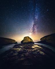 diamonds in the sky (heyengel) Tags: davenport milkyway sharkfincove santacruz america calif usa beach starry stars siliconvalley sanfrancisco