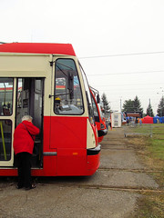 Trams in depot Bdzin (transport131) Tags: tram tramwaj t bdzin kzk gop