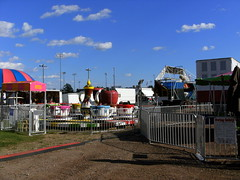 Central Wisconsin State Fair Midway Begins To Take Shape. (dccradio) Tags: festival wisconsin fun fair entertainment setup countyfair wi marshfield communityevent centralwisconsinstatefair