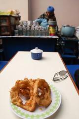 IMG_0008 (rovinglight) Tags: lake titicaca coffee breakfast religious bolivia copacabana sopapilla sopaipilla lapazdept friedcopacabanalapazdeptbolivia