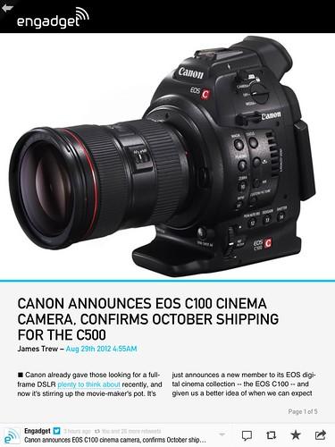 camera canon eos geek tools want engadget c100