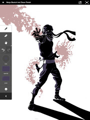 Adobe Ideas: Zombie Ninja (sketchy pictures) Tags: adobetouch