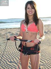 Radsails Kite Control Bar (EastCoastKiteClub) Tags: beach model bikini brunette atlanticocean beautifulgirl powerkites sexygirl canadiangirl tractionkites radsails eolosports radsailsgirl