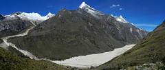 Quebrada de Santa Cruz (Mono Andes) Tags: panorama perú andes worldheritage artesonraju patrimoniodelahumanidad cordillerablanca caraz parón ph561 parquenacionalhuascarán quebradasantacruz millisraju