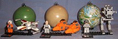 Lego - Planets Series 2 (Darth Ray) Tags: 2 cloud car star fighter lego 4 planets series xwing wars bespin yavin endor atst 9677 9679 9678 twinpod