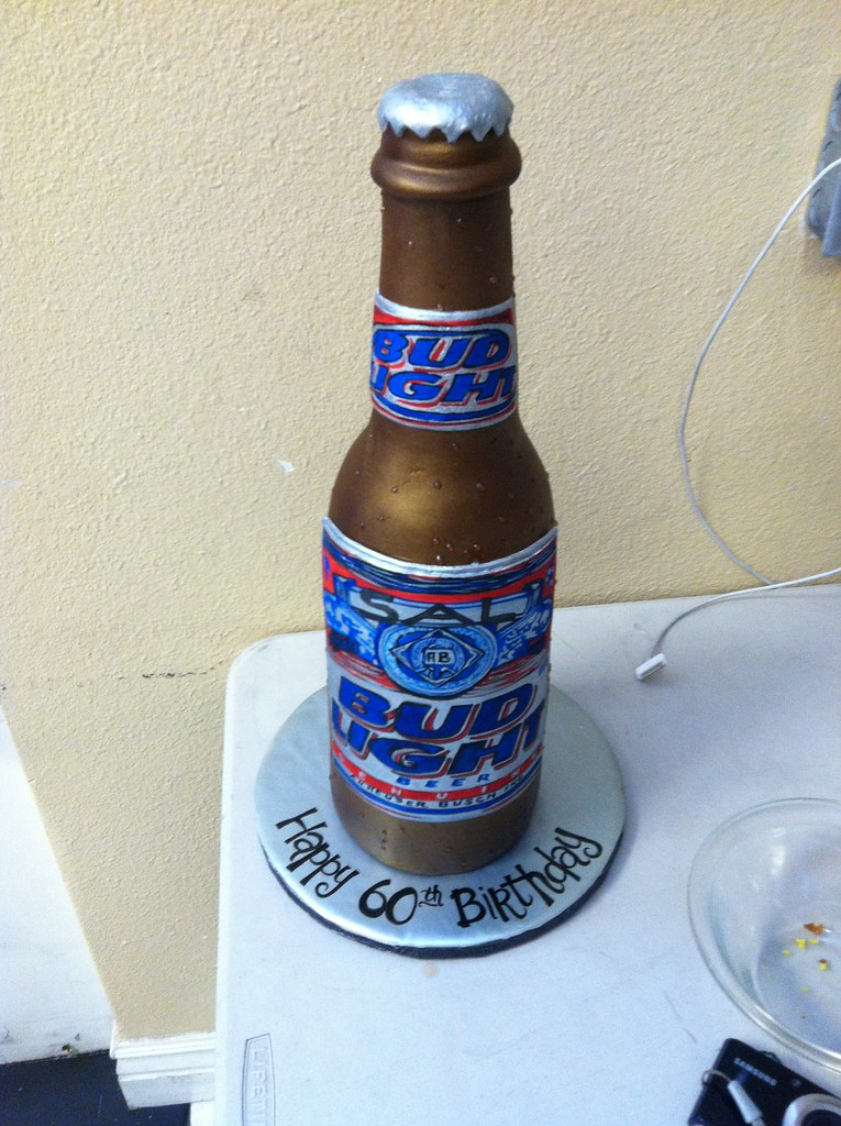 Beer Bottle Birthday Cake Candles