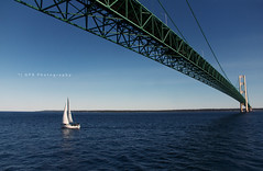 mackinac bridge (riggsy23) Tags: bridge lake water sailboat canon island mackinac