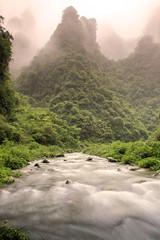 All Things Merge into One (craigkass) Tags: china mountains river asia limestone karst hunan nationalgeographic dehang