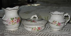 Part of Chamber Set (lmldolz) Tags: old antique pottery porcelain goldtrim paintedflowers chamberset