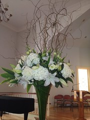 """Church flower display • <a style=""""font-size:0.8em;"""" href=""""https://www.flickr.com/photos/77192005@N08/7999711222/"""" target=""""_blank"""">View on Flickr</a>"""