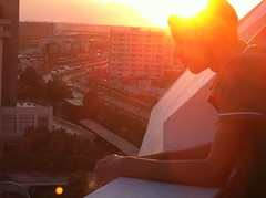 Balcony Sunset (Tasmin_Bahia) Tags: city light sunset summer sky sun sunlight holiday hot colour beautiful sunshine buildings turkey outside scenery warm pretty peace warmth peaceful sunny calm antalya morgan simple magical