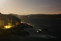 Swedish Night No3 (Waterjoe) Tags: ocean sea sky water night 35mm coast nightshot nacht sweden schweden clear nachtaufnahme langzeitbelichtung