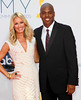Brooke Anderson and Kevin Frazier 64th Annual Primetime Emmy Awards, held at Nokia Theatre L.A. Live - Arrivals Los Angeles, California