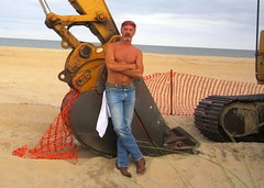 Cowboys Big Sand Box (Cowboy Tommy) Tags: shirtless portrait hot sexy pecs cowboy legs body muscle wranglers jeans redneck stache mustache tight rugged bulge cowboyboots tactor wrangs