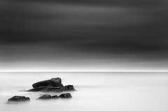 Keep to the Left (annemcgr) Tags: longexposure ireland sea dublin water monochrome clouds rocks le malahide