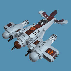 Bekkbachi DS-2 Zero - Sky Fighter (Fredoichi) Tags: plane lego space military micro shooter shootemup skyfi shmup microscale dieselpunk skyfighter fredoichi