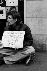 Untitled (Kevin Vanden) Tags: street brussels bw white black streets monochrome photography se photo fuji belgium candid young scene beggar begging x100 debrouiller