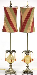 16. Pair of Murano Style Decorator Lamps