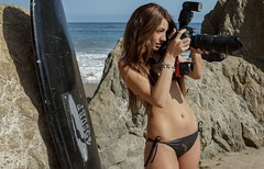 Goddess Shooting Stills & Video @ the Same Time with a Nikon D800 & Camcorder (45SURF Hero's Odyssey Mythology Landscapes & Godde) Tags: pictures life california girls sea portrait woman sun hot sexy beach girl beautiful beauty fashion cali lens ed photography la video los model sand women pretty surf photoshoot image zoom angeles photos pics d sandy picture lifestyle style images full panasonic bikini journey ii resolution hd mp brunette nikkor 36 swimsuit 800 mythology stills camcorder vr swimsuits afs bikinis heros d800 70200mm 90265 f28g 45surf hdctm900 sonypicturesvideosa77alphapictures9shootervideostoo