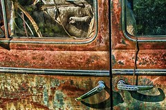 (rickhanger) Tags: abandoned car rust automobile rusty automotive chrome abandonedcar