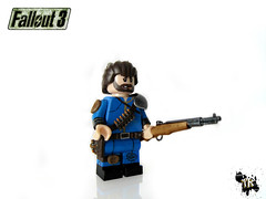 Lone Wanderer (TheRaconteur) Tags: 3 three gun lego rifle hunting 40k warhammer lone minifig custom wanderer fallout 40000 ps3 wh40k brickarms brickforge