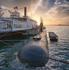 San Diego Maritime Museum (mojo2u) Tags: california bay harbor sandiego submarine maritimemuseum historicships nikond700 nikon28300mm berkeleyferryboat ussdolphinsubmarine