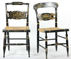43. Two Signed Hitchcock Side Chairs