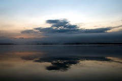 _MAD2171 (le Brooklands) Tags: sunset reflection clouds labrador nl nuages radiocanada labradorcity reflection levedusoleil littlewabushlake