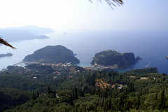 Morning at Paleokastritsa, Corfu (Tiensche) Tags: panorama view greece bellavista viewpoint corfu paleokastritsa goldenfox lakones