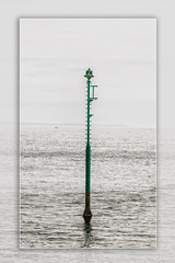 Starboard Marker Post West Bay Bridport (Boba Fett3) Tags: sea seascape green seaside post htt telegraphtuesday