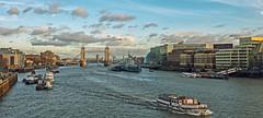River Thames View  (Cross Process Effect) (Panasonic Lumix GX8 & Panasonic Lumix 14mm F2.5 Pancake Prime) (markdbaynham) Tags: london londonist londoner capital city urban metropolis uk gb panasonic gx8 mft lumix lumixer m43 m43rd micro43 micro43rd river thames view famous 14mm f25 prime pancake hms belfast tower bridge boat cross process