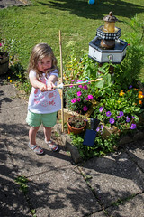 caitlin in grandma and grandads garden (grahamdale74) Tags: alyssia caitlin chel roy joan mum dad 2016 south wales