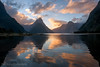 Milford Sound Symmetrical Sunset (Panorama Paul) Tags: paulbruinsphotography wwwpaulbruinscoza newzealand milfordsound fiordland sunset reflections clouds mountains nikond800 nikkorlenses nikfilters