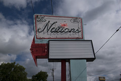 the nations (Nashville Street Photography) Tags: streetphotographer colorphotographer photogallery ricohgrd ricohgrdiv ricohimages ricohmafia sign signage oldsigns neonsigns