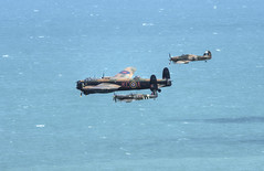 BBMF at Beachy Head (nigdawphotography) Tags: bbmf battleofbritain spitfire lancaster hurricane ww2 raf allied fighter bomber flypast formation