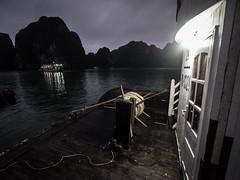 Ha Long Bay 09 (arsamie) Tags: ha long bay halong along sea vietnam rope anchor boat calm night door deck water
