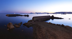 Cap d'Antibes (fredMin) Tags: long exposure sunset travel mediterranean sea cap dantibes blue panorama fuji fujifilm xt1 fujinon france ngc