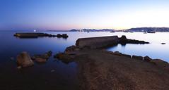 Cap d'Antibes (fredMin) Tags: long exposure sunset travel mediterranean sea cap dantibes blue panorama fuji fujifilm xt1 fujinon france ngc