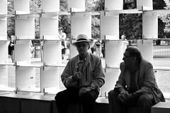 nice hat (leannerhodes) Tags: man hat pavilion serpentine bw streetphotography