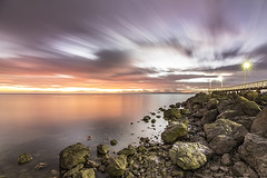 Wellington Point Jetty (JakaPH Photography) Tags: landscape seascape wellington point queensland australia dawn sunrise clouds long exposure morning jetty rocks water sea movement