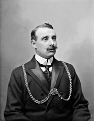 J. Quinlan Esq., High Sheriff, Barrack Street, Waterford (National Library of Ireland on The Commons) Tags: ahpoole arthurhenripoole poolecollection glassnegative nationallibraryofireland highsheriff waterford chainofoffice dresssuit wingcollar quinlan barrackstreet regalia jamesquinlan alderman councillor