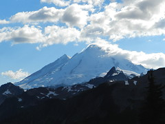 Mount Baker (Ramona H) Tags: mtbaker clouds landscape mountain evening northcascades glacier
