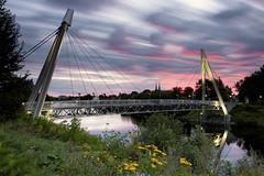 Lever du jour sur la Riviere-aux-Sables du 30-08-2016 (gaudreaultnormand) Tags: canada jonqiere leverdesoleil longexposure quebec riviere saguenay sunrise rivireauxsables pont bridge longueexposition