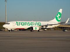 Transavia B-737-800 (antallajos) Tags: munich airfrance klm uzbekistan airbus boeing ellinair condor germania transavia b767 b737700 b737800 a320 a319 mnchen