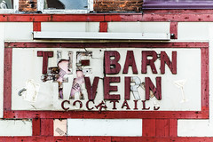 The Barn (merobson) Tags: sign barn tavern fallingapart cocktails