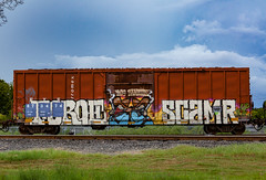 (o texano) Tags: houston texas graffiti trains freights bench benching foroe scamr rtd zee db flyid