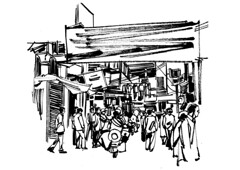 Brush Street (Thisisanwar) Tags: anwar artist cartoonist illustrator india hyderabad nandyal noonepalli telugucartoonist teluguillustrator telugubomma bapu bali chandra gopi mohan sketchingartist linedrawing sketchbook howtodraw